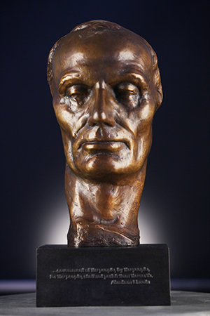 Face of Lincoln limited edition bronze sculpture