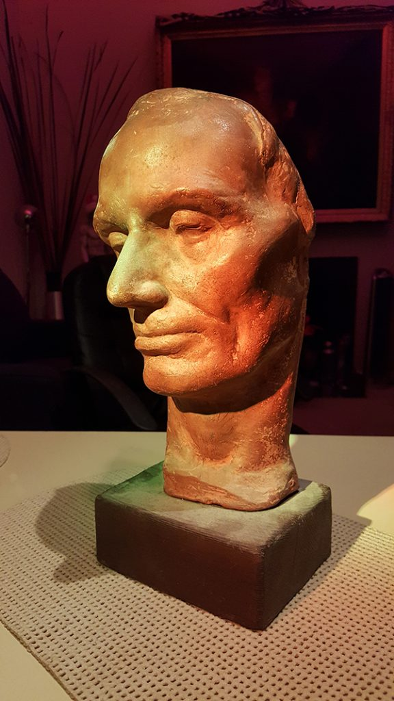 face of lincoln original terra cotta sculpture